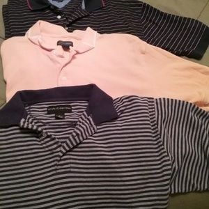 "Other - 3 Mens short sleeve ""polo"" style  shirts $8 each"